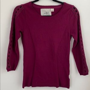 Anthropologie Angel Of The North Purple Sweater
